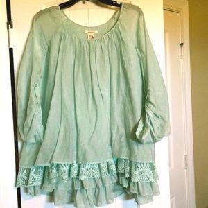 NWT Sundance Gorgeous Silk/Cotton Blouse Size M